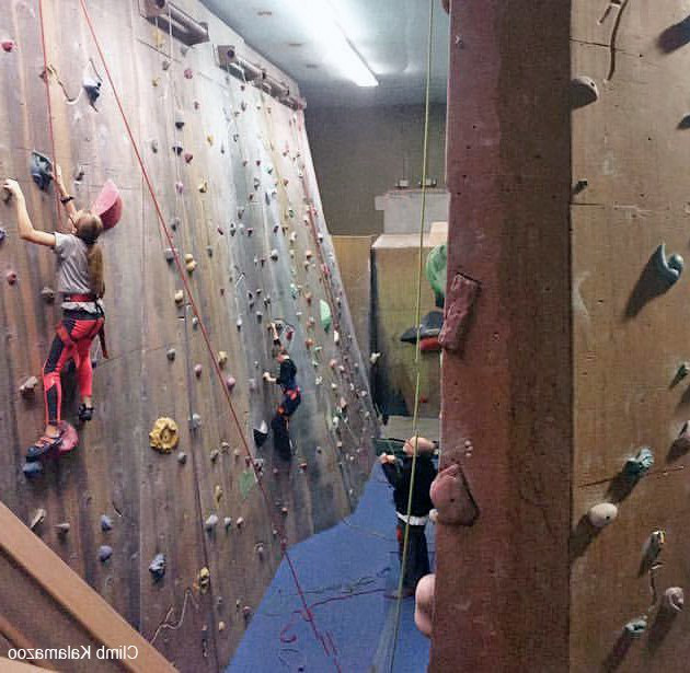 Climbers+at+Climb+Kalamazoo+tackle+beginner+to+intermediate+level+walls.+The+facility+offers+a+wide+range+of+difficulties+for+every+type+of+participant.